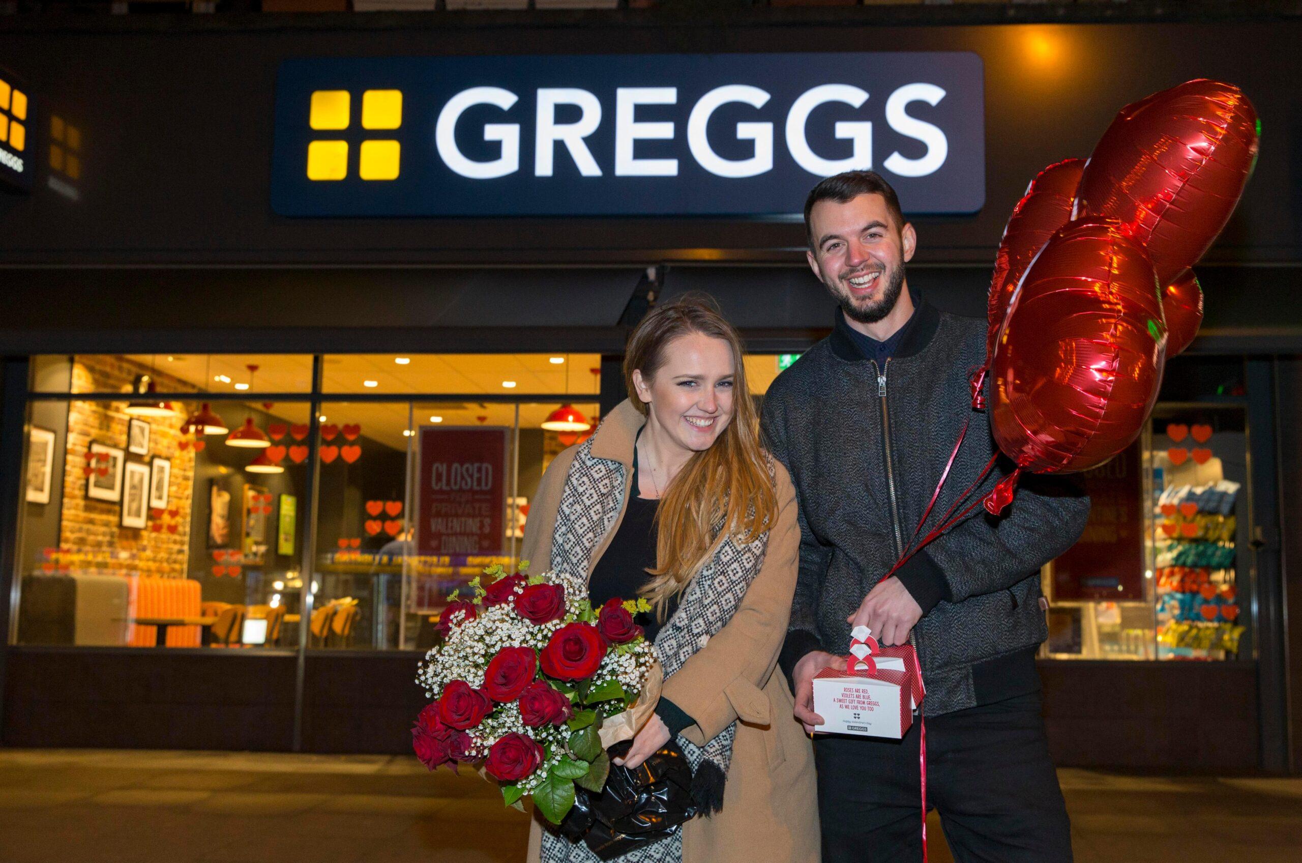 Lauren Windle Journalist date at Greggs