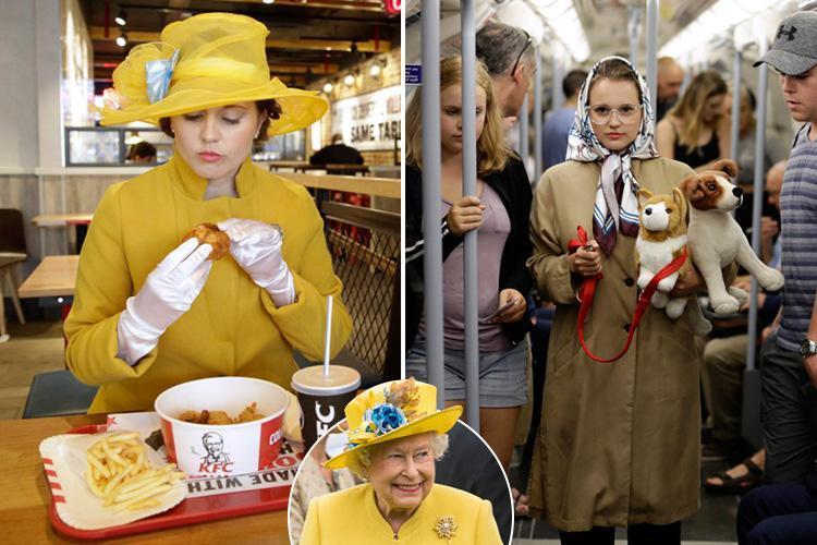 Lauren Windle Jounalist: I dressed like the Queen for a Week