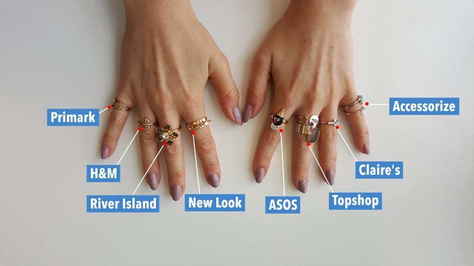 Lauren Windle Journalist Which high street shops' rings turn your fingers GREEN?