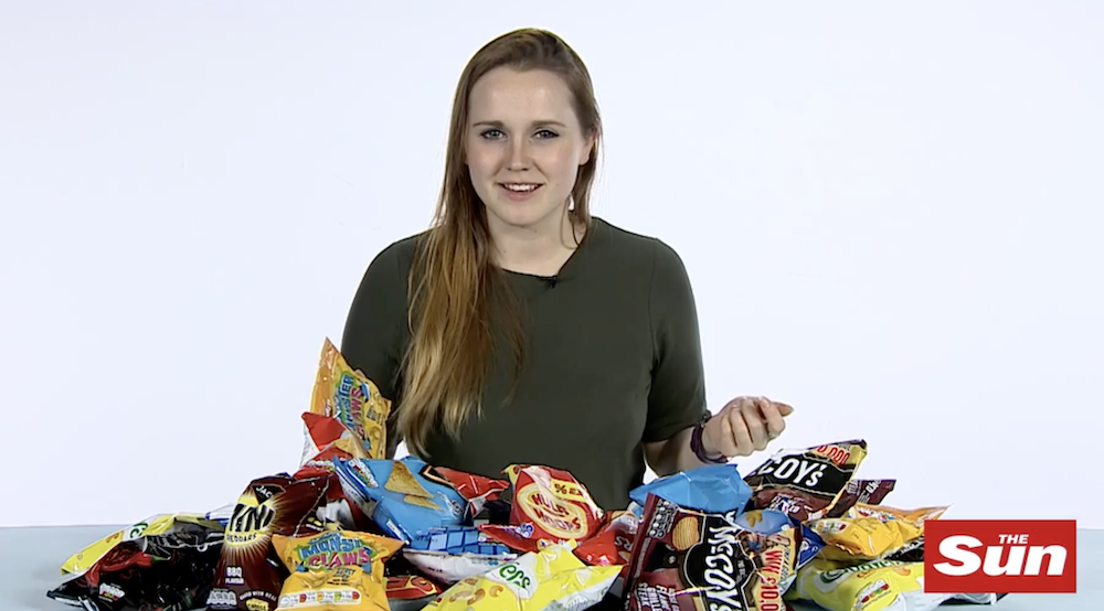 Lauren Windle Journalist how many crisps are in your packet?